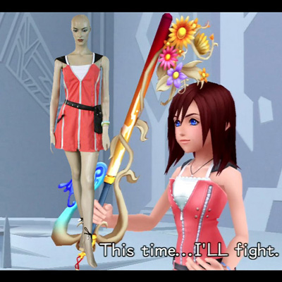 Kingdom Hearts 2 Kairi Pink Dress Cosplay Costume Carnaval