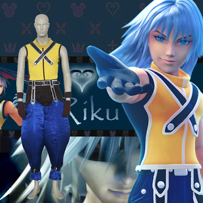 Kingdom Hearts 1 Riku Cosplay Kostym Karneval