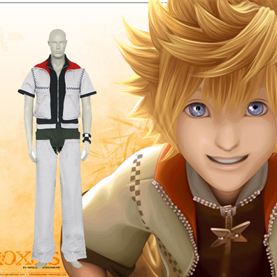Kingdom Hearts 2 Roxas Cosplay Costume Carnaval