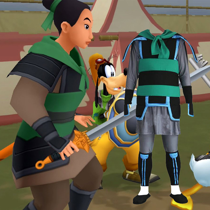 Luxury Kingdom Hearts 2 Mulan Cosplay Costumes Wellington