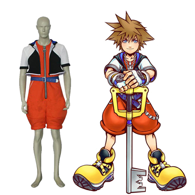 Kingdom Hearts 1 Sora Cosplay Traje Clothing Carnaval