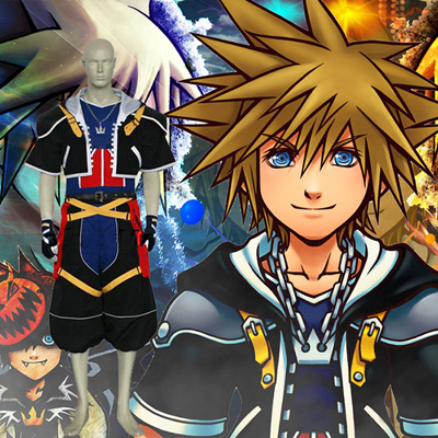 Kingdom Hearts 2 Sora Cosplay Kostym Karneval