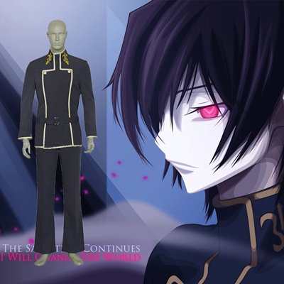 Code Geass Lelouch vi Britannia Lamperouge Cosplay Costume Carnaval