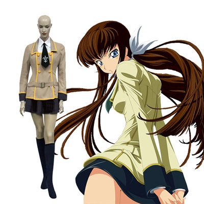 Code Geass Skoleuniform Girls Cosplay Kostume Fastelavn