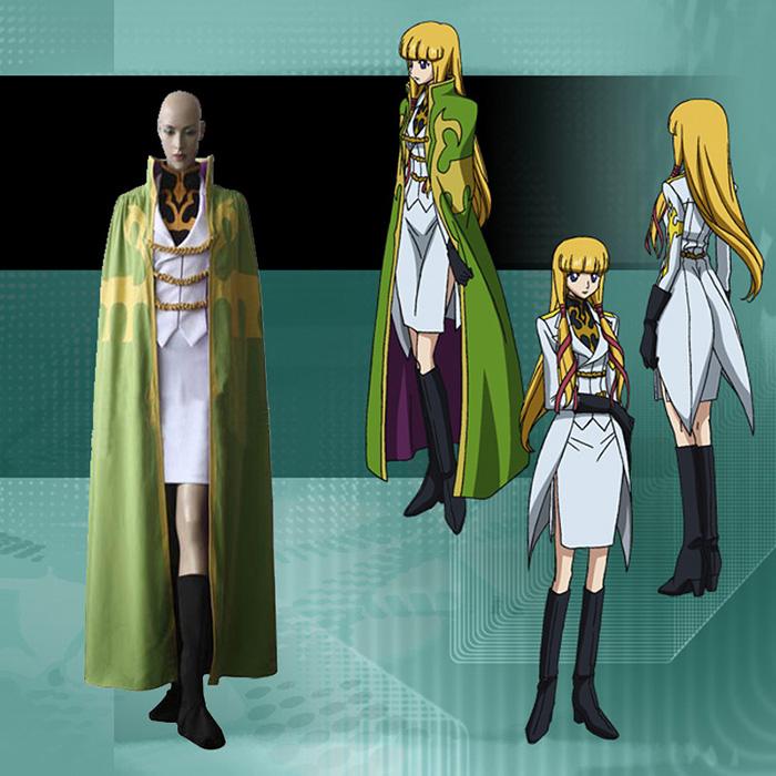 Code Geass Monica Krushevski Cosplay Kostume Fastelavn