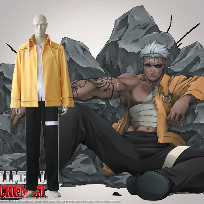 Fullmetal Alchemist Scar Cosplay Outfits Clothing