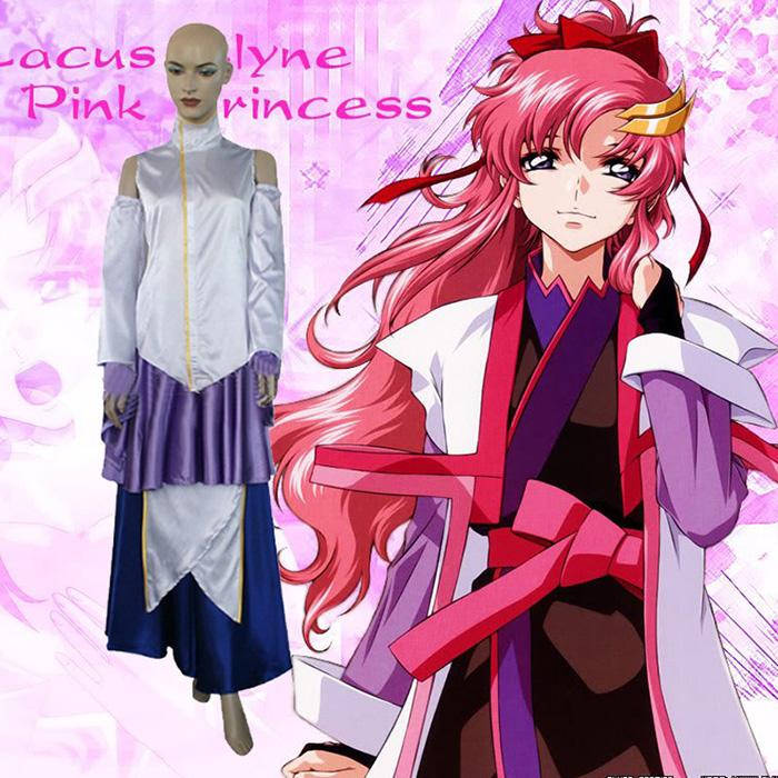 Déguisements Mobile Suit Gundam Seed Princess Lacus Clyne Costume Carnaval Cosplay