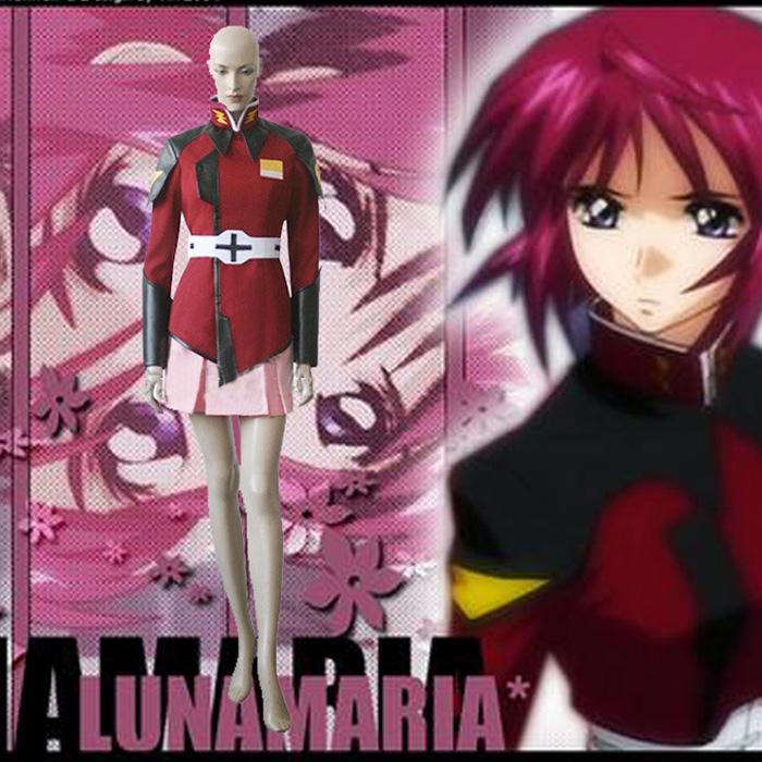 Déguisements Mobile Suit Gundam Seed Lunamaria Hawke Costume Carnaval Cosplay