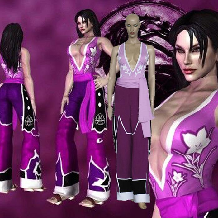 Mortal Kombat Li Mei Cosplay Kostume Anime Fastelavn