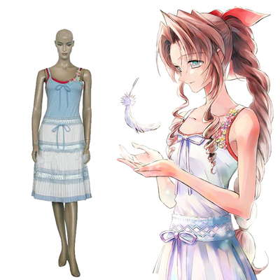Final Fantasy VII 7 Aerith Gainsborough Cosplay Costumi Carnevale