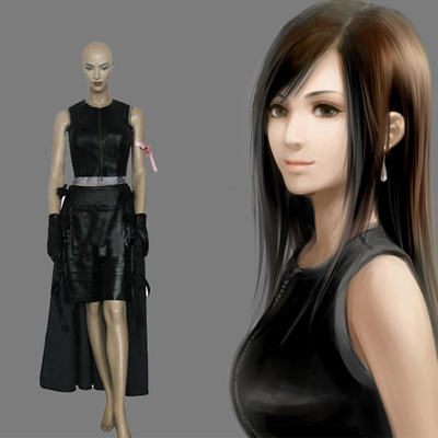 Final Fantasy VII 7 Tifa Lockhart Cosplay Costume Carnaval