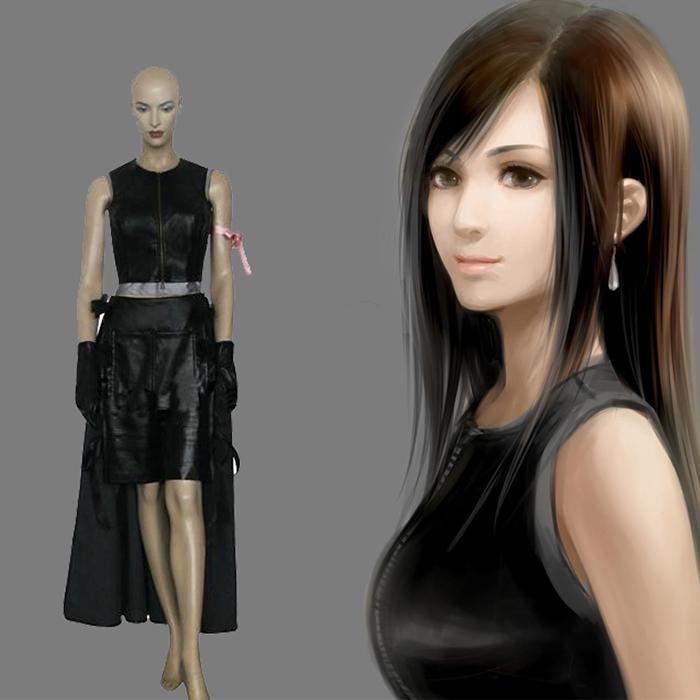 Final Fantasy VII 7 Tifa Lockhart Cosplay asut Naamiaisasut
