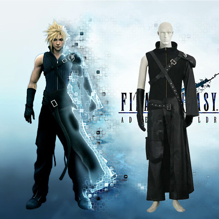 Final Fantasy VII 7 Advent Children Cloud Strife Cosplay Outfits