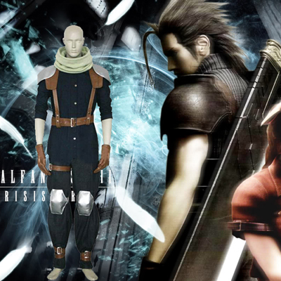 Final Fantasy VII 7 Crisis Core Cloud Strife Cosplay Costume Carnaval