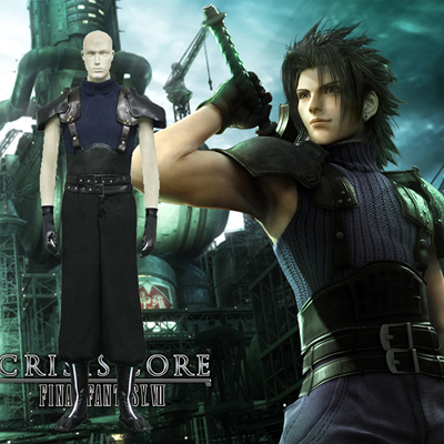 Final Fantasy VII 7 Crisis Core Zack Fair Cosplay Kostym Karneval