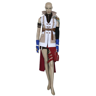 Final Fantasy XIII Lightning Cosplay Kostym Karneval