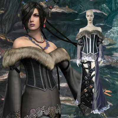Final Fantasy X 10 Lulu Cosplay Costume Carnaval