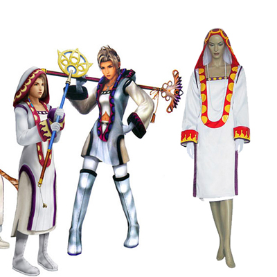 Final Fantasy XII 12 Yuna White Mage Cosplay Kostym Karneval