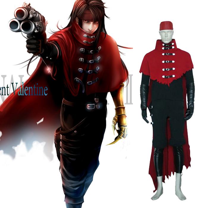Final Fantasy VII 7 Vincent Valentine Cosplay Jelmez Karnevál