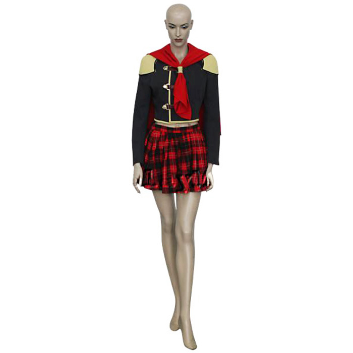 Final Fantasy XIII 13 Agito Girl Uniform Cosplay Outfits