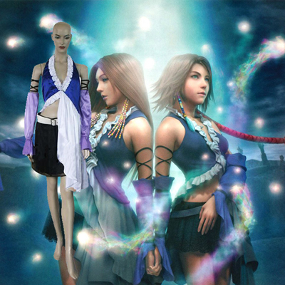 Final Fantasy XII 12 Yuna Lenne Song Dress Cosplay asut Naamiaisasut