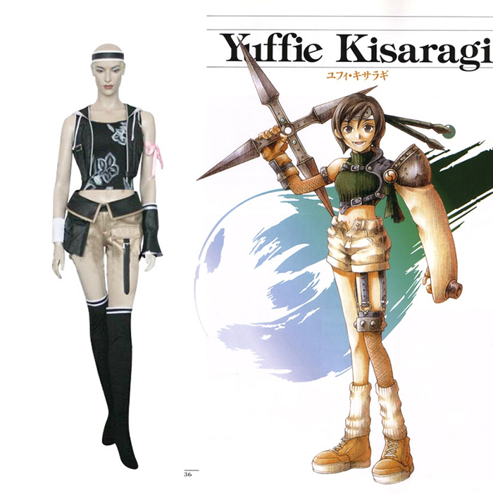Déguisements Final Fantasy VII 7 Yuffie Kisaragi Costume Carnaval Cosplay