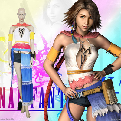 Final Fantasy XII 12 Yuna Cosplay Costumi Carnevale
