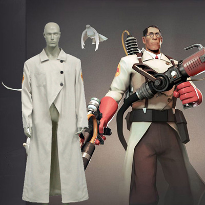 Team Fortress 2 Medic Cosplay Costumi Anime Carnevale