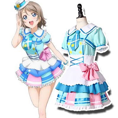 Anime LoveLive! Sunshine!! You Watanabe Cosplay Jelmez Karnevál