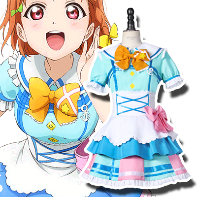 Anime LoveLive! Sunshine!! Chika Takami Cosplay Costumes