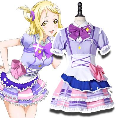 Anime LoveLive! Sunshine!! Mari Ohara Cosplay Kostymer Karneval
