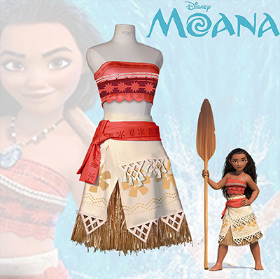 2017 Hot Sale Disney Movie Moana Faschingskostüme Cosplay Kostüme