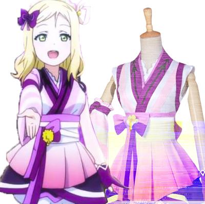 Anime LoveLive! Sunshine!! Mari Ohara Cosplay Disfraces Carnaval