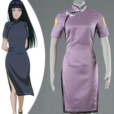 Naruto Hinata Hyuga Anime Cheongsam Cosplay Costume