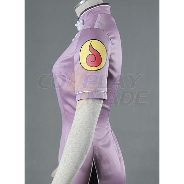 Naruto Hinata Hyuga Anime Cheongsam Cosplay Kostume Fastelavn