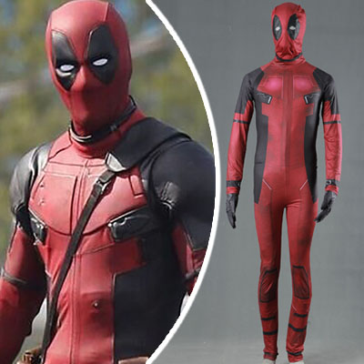 Superhero Movie Deadpool Cosplay Zentai Suits Karnevál