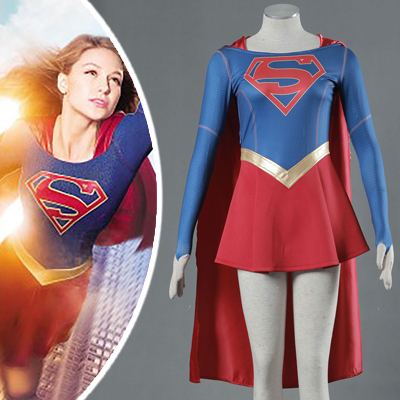 Supergirl Costume Superwoman Kara Danvers Cosplay Outfit