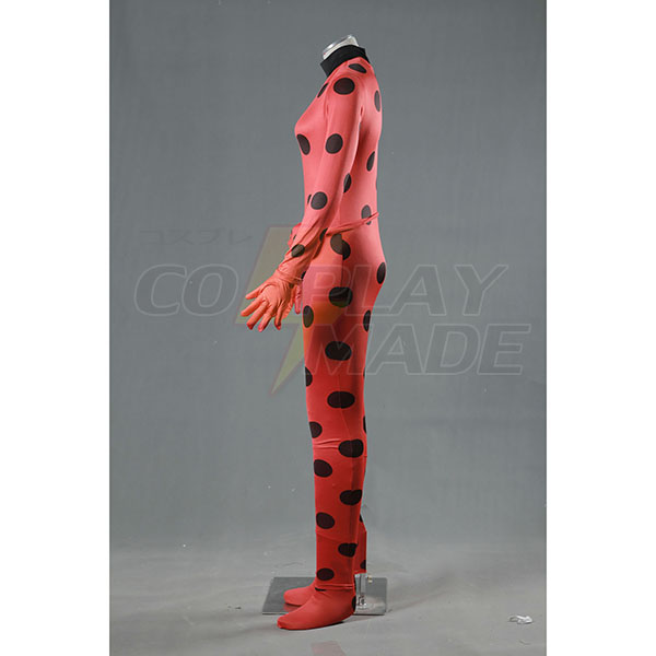 Miraculous Ladybug Cosplay Kostume Marinette Spandex Zentai Suit Fastelavn