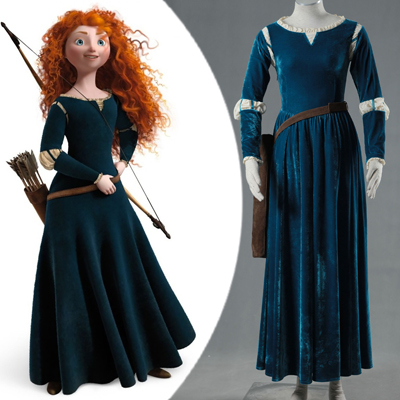 New Brave Princess Merida Cosplay asut Naamiaisasut