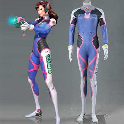 Overwatch OW Game Dva Cosplay Halloween Costume Zentai Suit