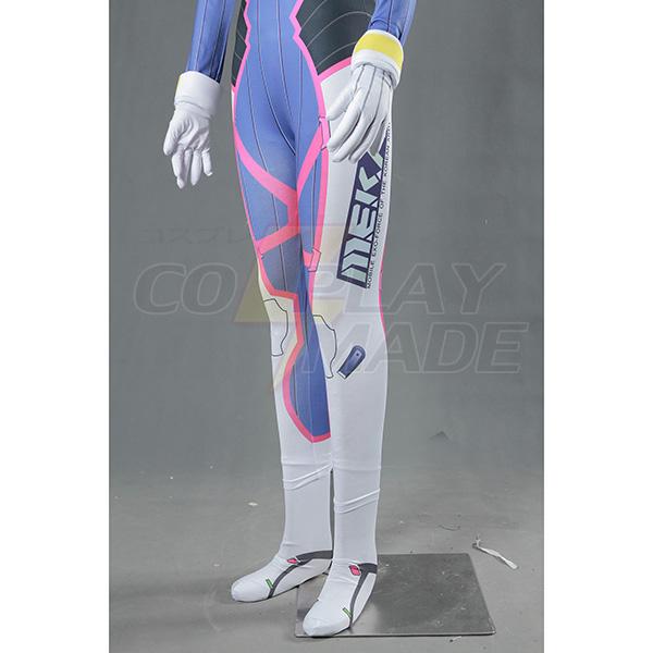 Overwatch OW Game Dva Cosplay Halloween Kostume Zentai Suit Fastelavn