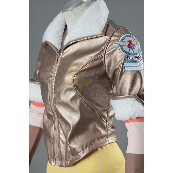 Overwatch OW Tracer Cosplay Halloween Costume Zentai Suit (Simple Version)