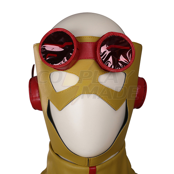 Flash Yellow Cosplay Halloween asut Zentai Suit Koko setti Naamiaisasut