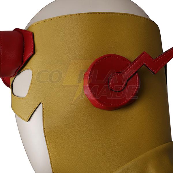 Flash Sárga Cosplay Halloween Jelmez Zentai Suit Teljes Készlet Karnevál