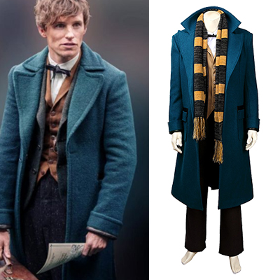 Fantastic Beasts And Where To Find Them Cosplay Kostym Hela Set Karneval