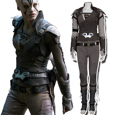Star Trek Beyond Jaylah Cosplay Halloween Costumi Set intero Carnevale