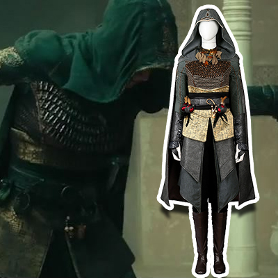 Assassin's Creed Dr.Sophia Rikki Cosplay Kostym Hela Set Karneval