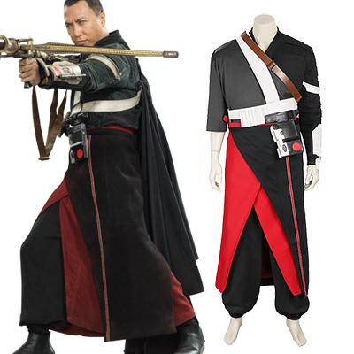 Rogue One :A Star Wars Story Chirrut Imwe Cosplay Kostume Hele sæt Fastelavn