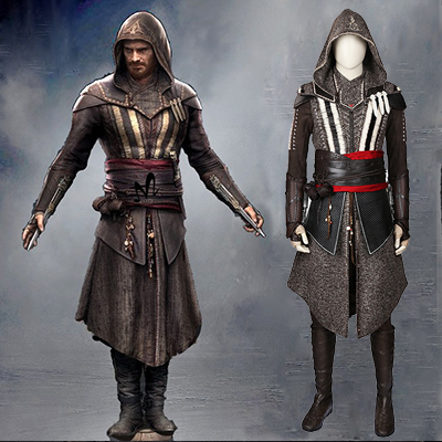 Assassin's Creed Callum Lynch Cosplay Kostym (Inga skor) Karneval