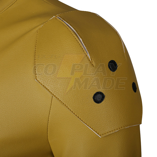 Flash Yellow Cosplay Halloween Kostumer Zentai Suit (Ingen sko) Fastelavn